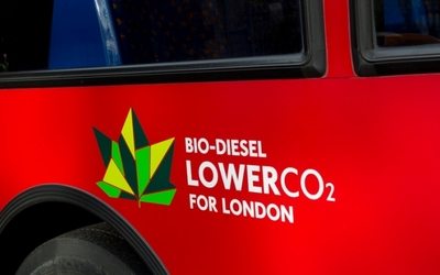 Biodiesel logo on bus