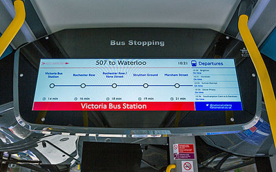 New information screens on 507 and 521