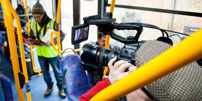 filming on buses