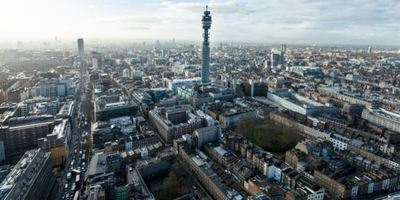 Photo of London's skyline including the BT Tower