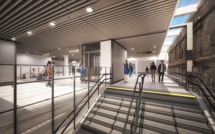 Ticket hall stairwell - artist's impression