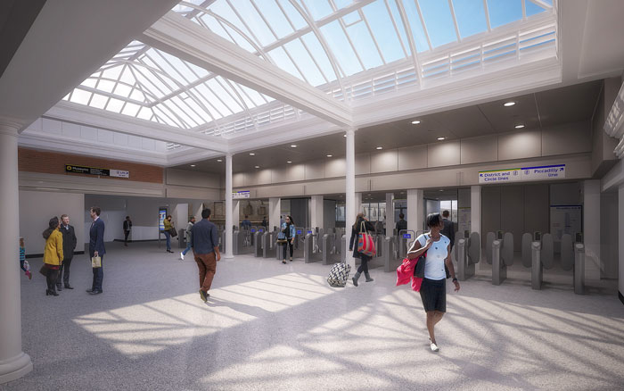 Ticket hall - artist's impression